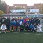 Prácticas de fútbol en 2º de la TAFAD