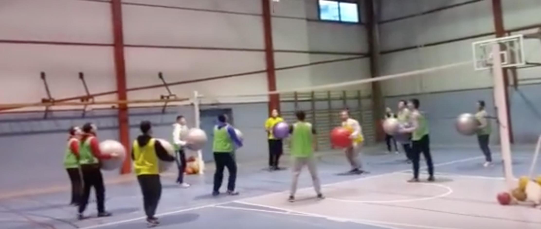 Ejercicios alternativos de Voleibol en 2º de TAFAD